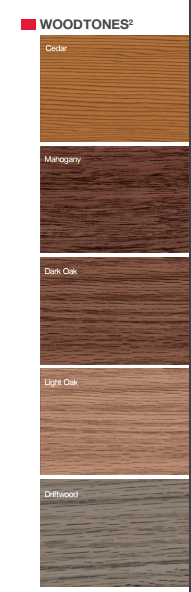 Wood accents colors